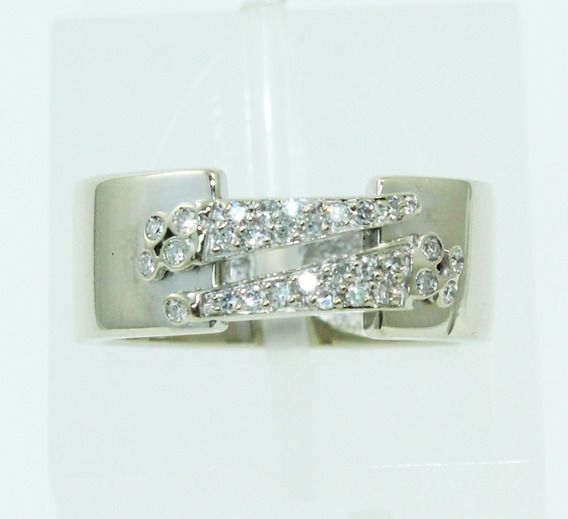 Pocao2005- Anel Ouro 18k Diamantes Vivara 12x S/j Ft/gt 2410