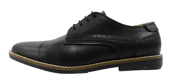 Zapato Morris De Cuero Color Suela 6067 Negro 7569