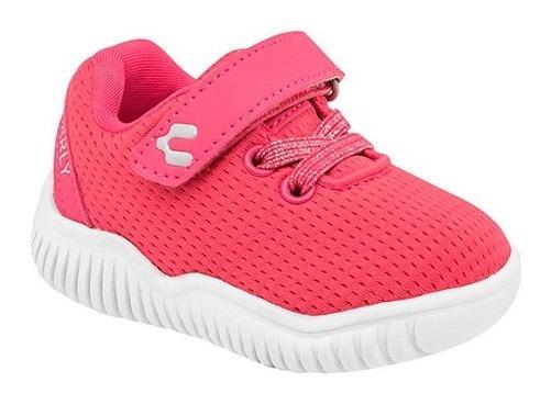 Tenis Para Bebe Niña Charly 1069717 Coral Pv20