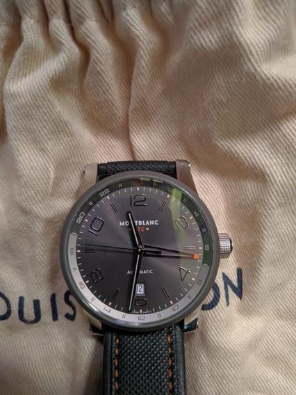 Relógio Montblanc Masculino Couro Preto - 109137