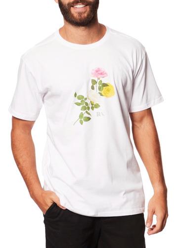 Imagem 1 de 7 de Camiseta Masculina Estampa Exclusiva Rosas - Reserva