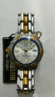 Reloj Citizen Vintage Corona A La Izq Y Tapa A Rosca Sumerg