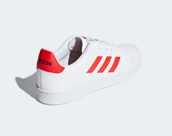 Tênis Adidascourt 70s - Branco E Vermelho