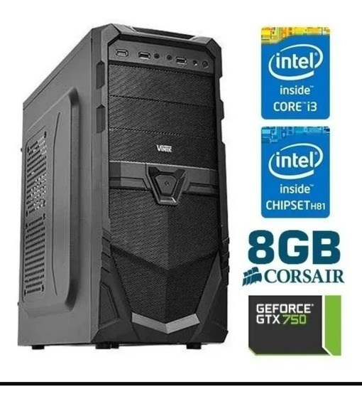 Pc Gamer Gtx 750, 8gb Ram, 500gb, Intel Core I3 4150