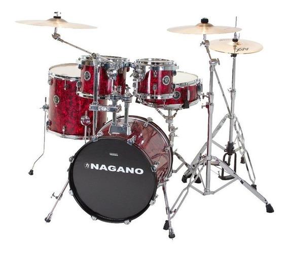 Bateria Nagano Bumbo 18 Polegadas Concert Gig Abalone Red