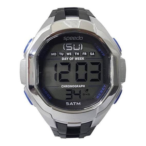 Relógio Masculino Speedo Prata/preto - Embalagem Danificada