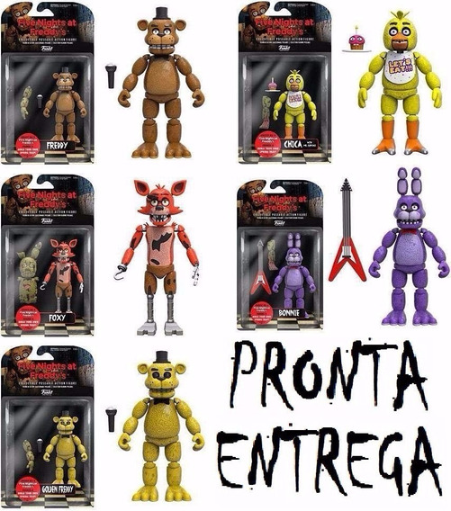 6 Bonecos Five Nights Freddy