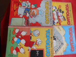 Gibis Disney Italiano (topolino) Anos 60 Lote Com 4 Hqs