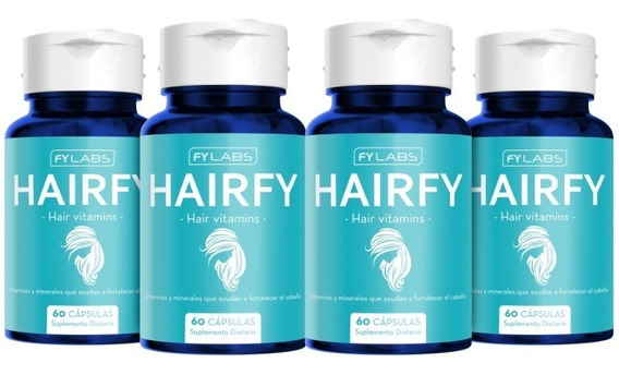 Hairfy - Vitaminas Anti Caída Del Cabello - Biotina Colágeno Niacina Zinc X240