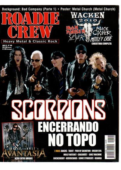 Roadie Crew Scorpions Encerrando No Topo Nº140