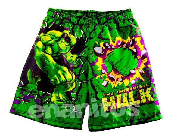 Short Para Niños De Hulk