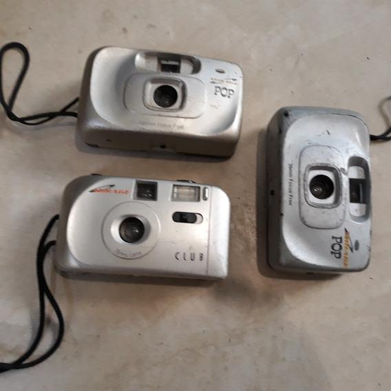 Câmeras Fotograficas Analógicas Antigas Mirage Lote Com 3