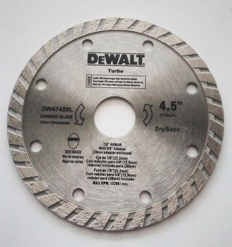 Disco De Diamante De 41/2  (105mm) Dewalt
