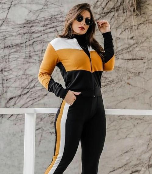 Conjunto Calça E Blusa Crepe Roupas Feminina Preço Baixo