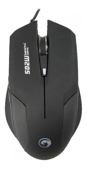 Mouse Gamer Marvo M205bk 2400 Dpi 6 Botões
