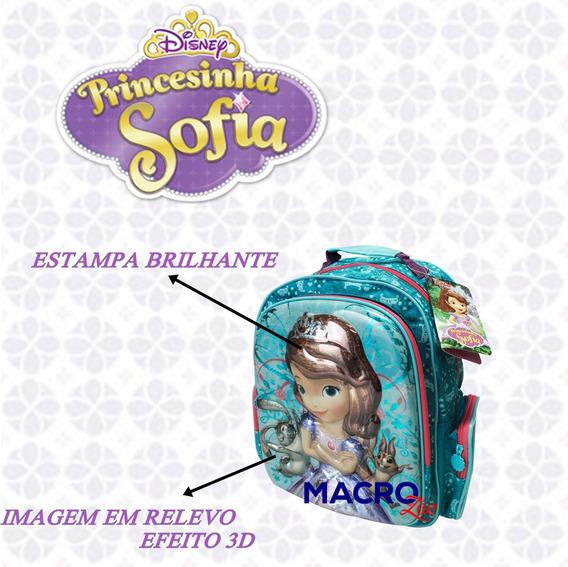 Mochila Escolar Infantil Princesa Sofia M Disney 11190 3d