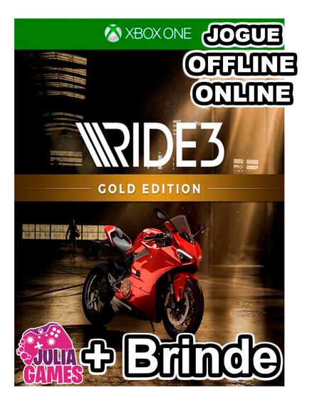 Ride 3 Gold Edition Xbox One Midia Digital + Brinde