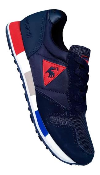 Tenis Lecoq Sportif Azul Oscuro Hombre Zapatillas Importadas