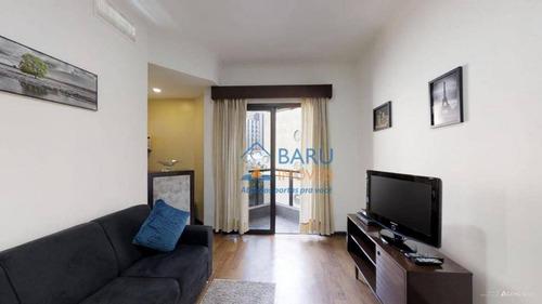 Flat Com 1 Dormitório À Venda, 40 M² Por R$ 430.000,00 - Cerqueira César - São Paulo/sp - Fl0453