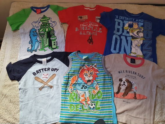 Lote 6 Remeras Talle 4 Disney Store Cheeky Mimo Grisino