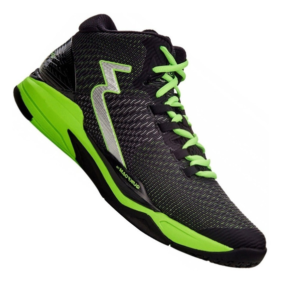 Tênis Masculino 361 Horus Preto/ Verde Basquete Vôlei Indoor