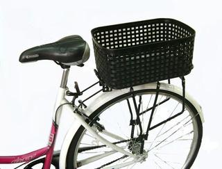 Canasto Trasero Plástico Para Bicicleta Mas Ojo Reflactario
