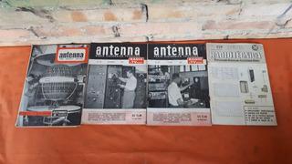4 Revistas Antigas Final Dos Anos 50 Antenna E Radiotecnica