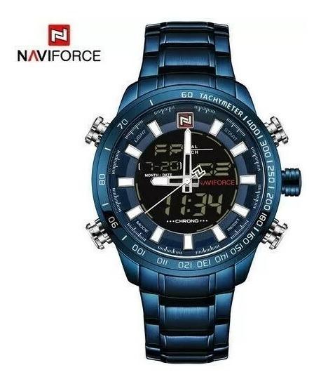 Relógio Masculino Naviforce Analógico E Digital Aço