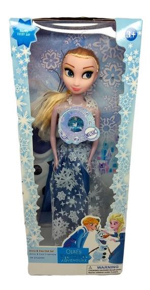 Boneca Elsa Musical Desenho Frozen Articulada E De Plástico