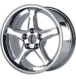 Rin Tipo Cobra Cromados 17x10.5 Ford Mustang 5x4.5- 5x114.3