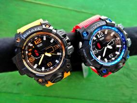 Reloj Deportivo Militar Marca Smael Para Hombre Rojo