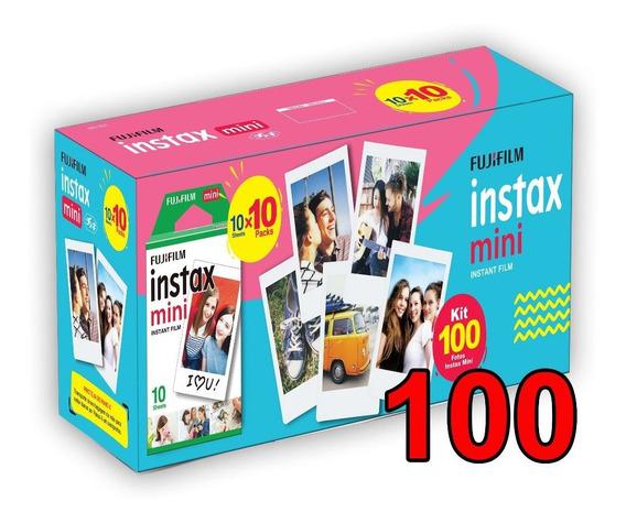 Filme Instax Com 100 Fotos Nova Embalagem Entrega`rápida