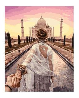 Lienzo Para Pintar Por Números Taj Mahal
