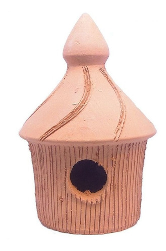 Ninho De Barro Casinha De Passarinho Aves Cerâmica