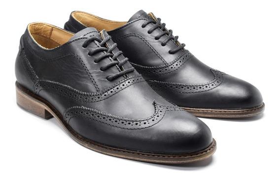 Zapato Oxford Cuero Marsanto Ralph Negro. Store Oficial