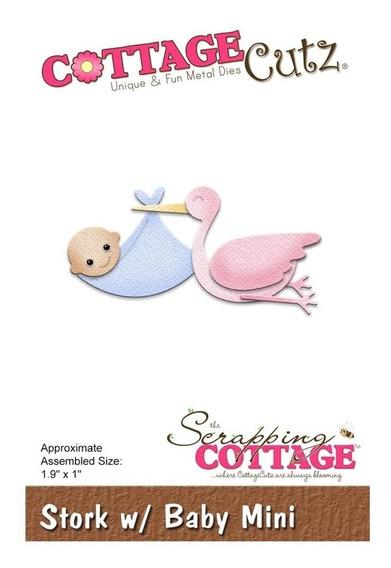 Troqueladora De Cigueña Con Bebé Stork With Baby Cottage Cut