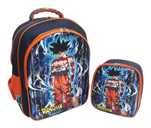 Mochila Costas + Lancheira Dragon Ball Inst. Superior Tam G