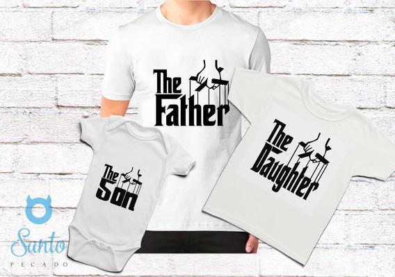 Combo 3 Remeras Papá Y 2 Hijos (remera O Body) Día Del Padre