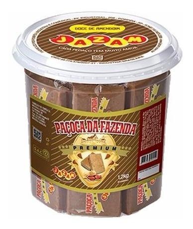 Paçoca Premium - Da Fazenda Premium Pote 30 Unid = 1,2kg
