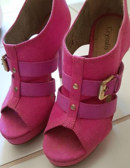 Sandália Ankle Boot Salto Fino