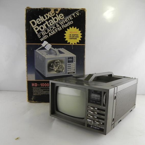 Tv Portátil 5 Antiga Lasonic Acompanha Caixa Original Hd-1000 - Usado C/ Defeito