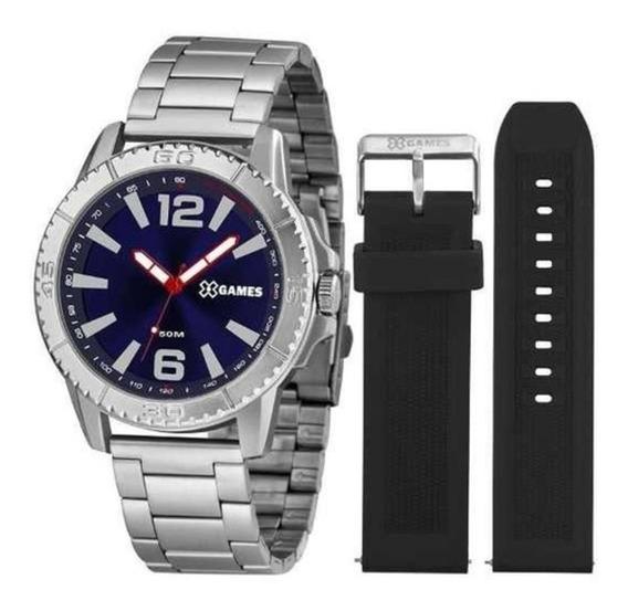 Relógio X-games Xmls0001 D2sx Aço Azul Duas Pulseiras