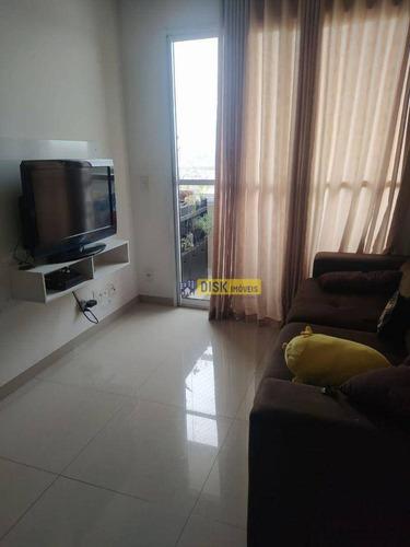 Imagem 1 de 10 de Apartamento Com 2 Dormitórios À Venda, 54 M² Por R$ 320.000,00 - Conjunto Residencial Pombeva - São Bernardo Do Campo/sp - Ap2174