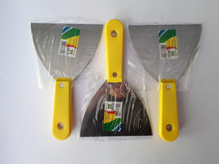 Kit Com 3 Espátula Pedreiro 12 Cm - Melfi Alta Qualidade
