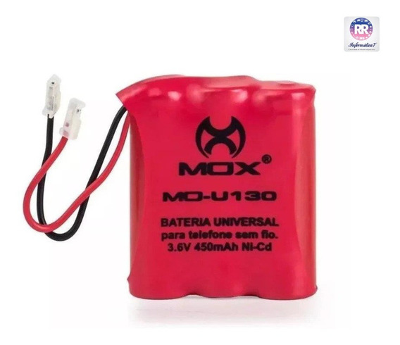Bateria Telefone Sem Fio Mox Mo-u130 3.6v 450mah