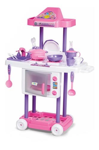 Cozinha Infantil Criança Completa Pia + Fogãozinho + Forno