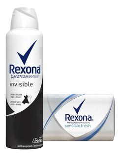 Antitranspirante Rexona Woman Invisible + Jabon Sensible