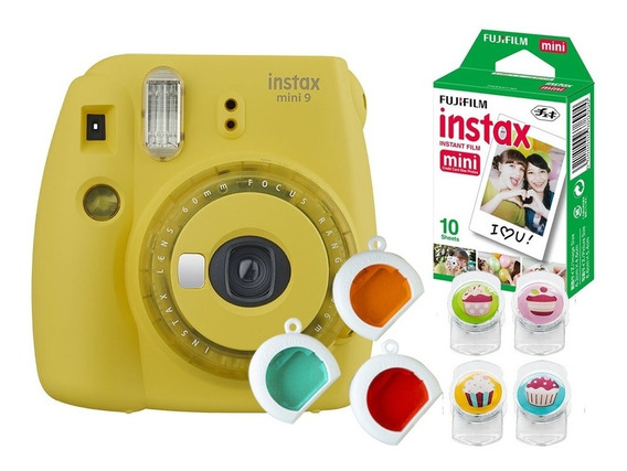 Câmera Fujifilm Instax Mini9 Amarelo Banana + Acessórios
