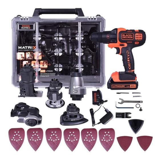 Kit Parafusadeira Matrix 6 Em 1 Black Decker 20v Bdcdm6kitc