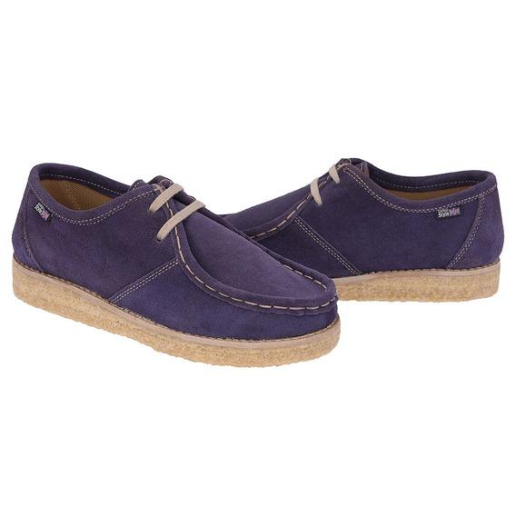 Sapato Cacareco Estilo Vintage Com Costura Manual Sola Crepe